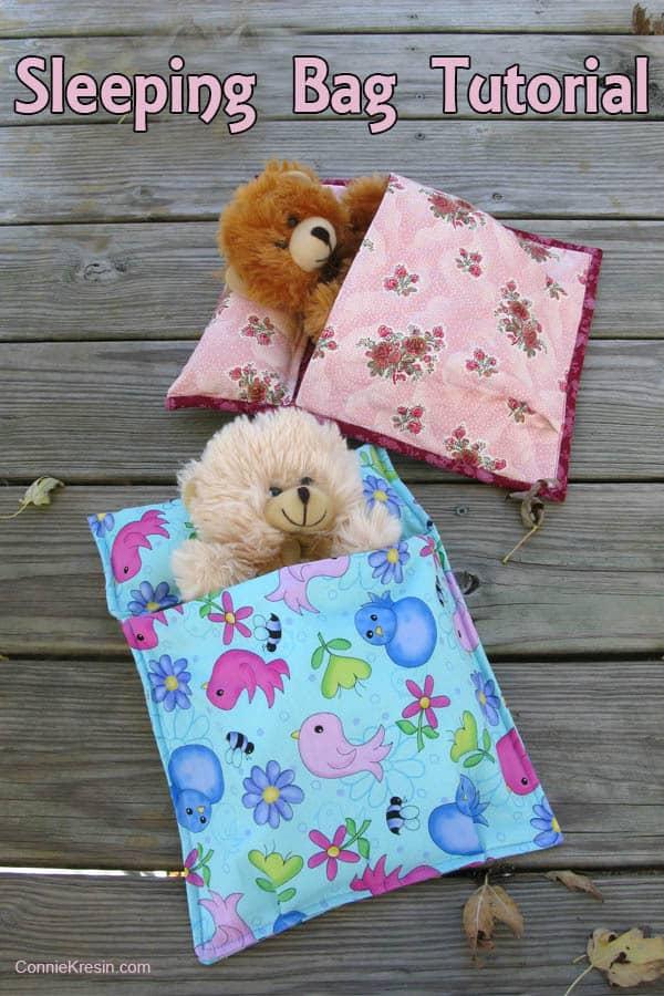 Sleeping Bag Tutorial fast and easy to make - conniekresin.com