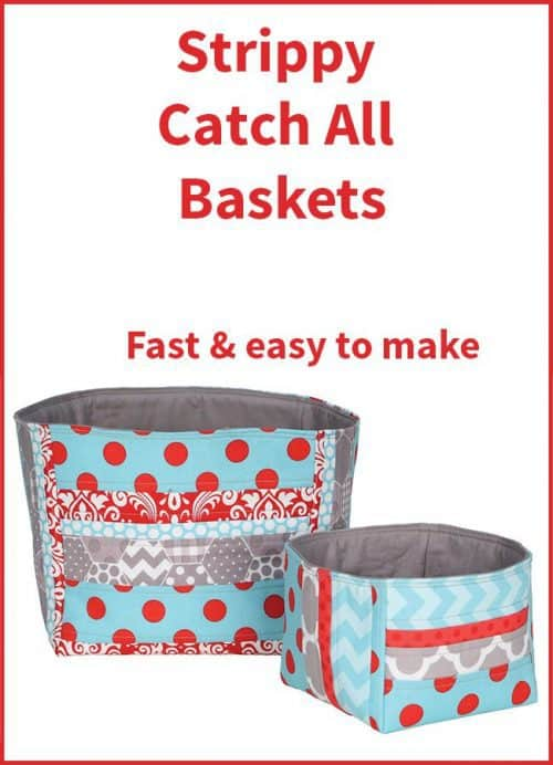 Free fabric basket tutorial
