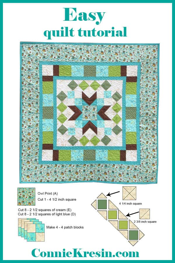 Easy to make Who's Who quilted wall hanging tutorial