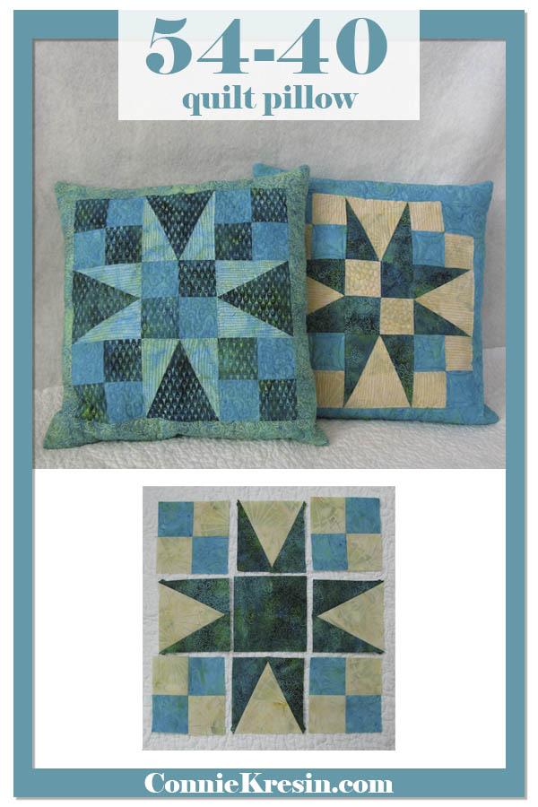 54-40 quilted pillow tutorial