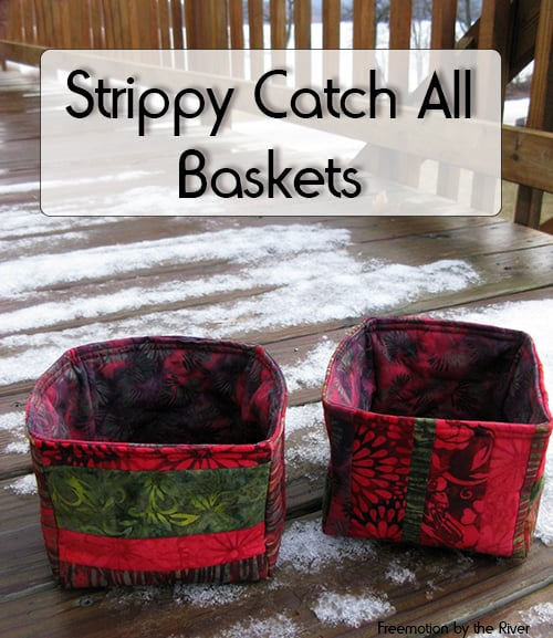 Strippy Catch All Basket tutorial