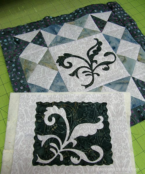 Sizzix die and batiks for a pillow