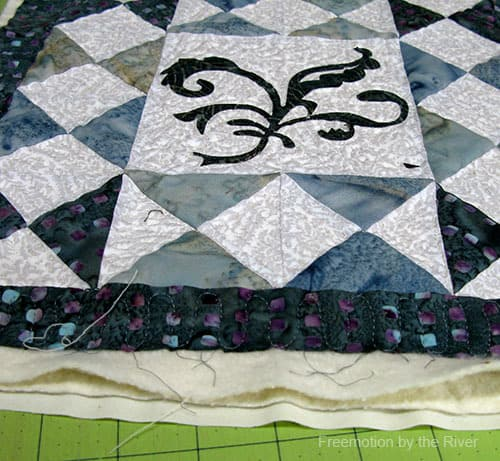 Two layers of batting for quilting
