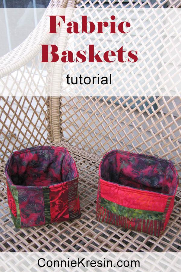Strippy Basket tutorial baskets easy to make