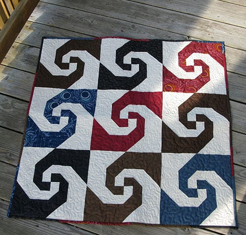 Accuquilt Go Snail Trail Quilt Freemotion By The River