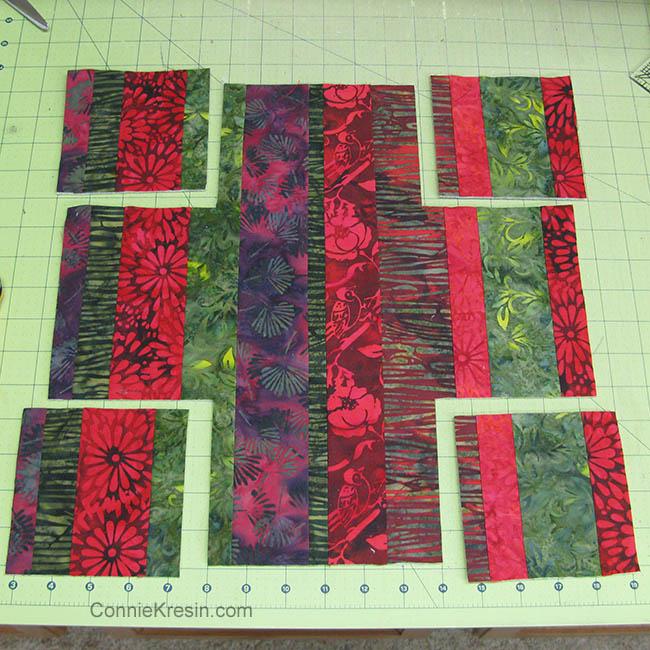 Batik Coasters and Fabric Basket Tutorial cutting corners