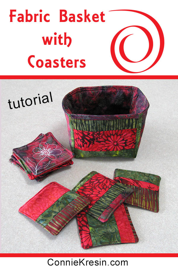 Batik Coasters and Fabric Basket Tutorial easy to make