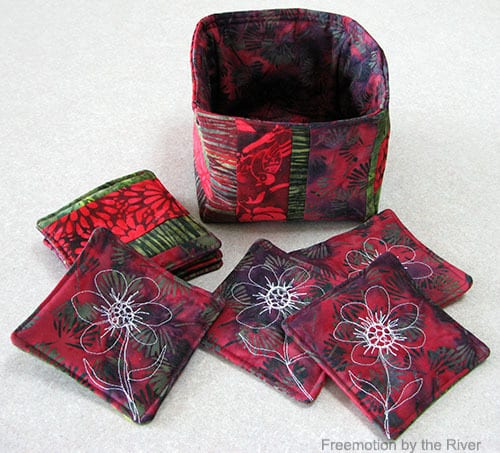 Easy to make batik coaster for your fabric basket