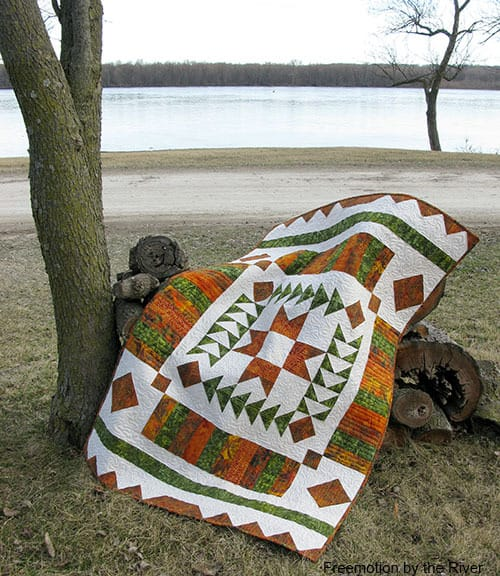 Amber Geese quilt
