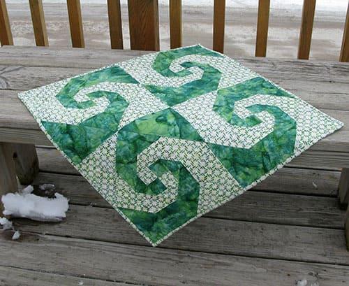 St Patrick's Snail's Trail Quilt