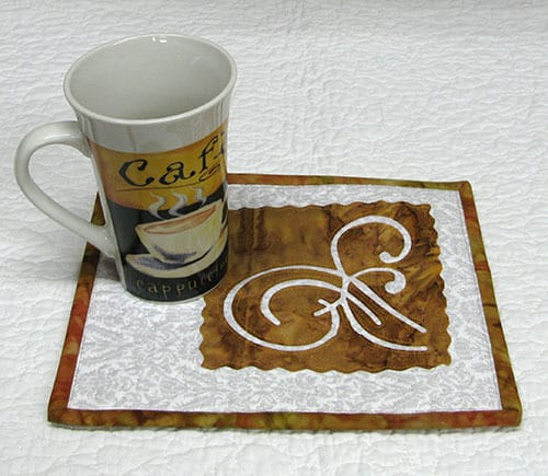 Coffee Time Mug Rug