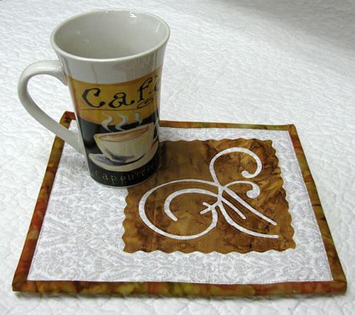 Coffee Time Mug Rug