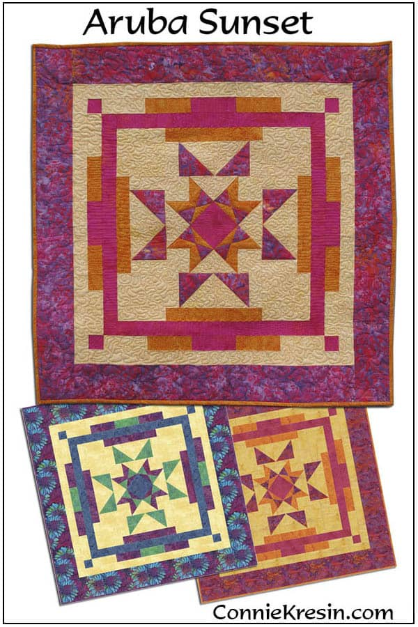 Aruba Sunset Quilt Pattern