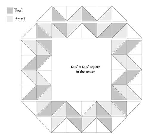 Diagram for piecing the carpenters wheel