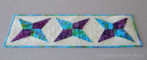Tablerunner made with AccuQuilt die