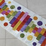 Blooming Piano Keys Table Runner