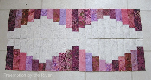 Pink tablerunner reversed
