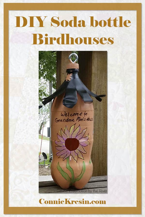 DIY soda bottle liter bottle birdhouses to make