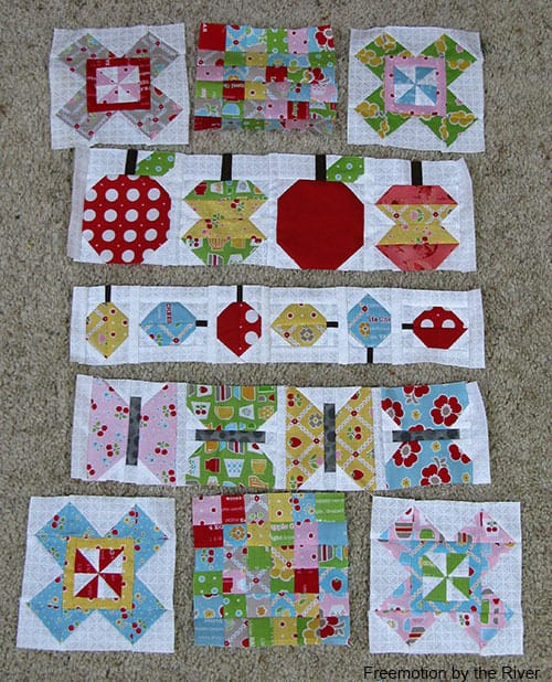 Combining Quilty Fun and Farm Girl Vintage blocks