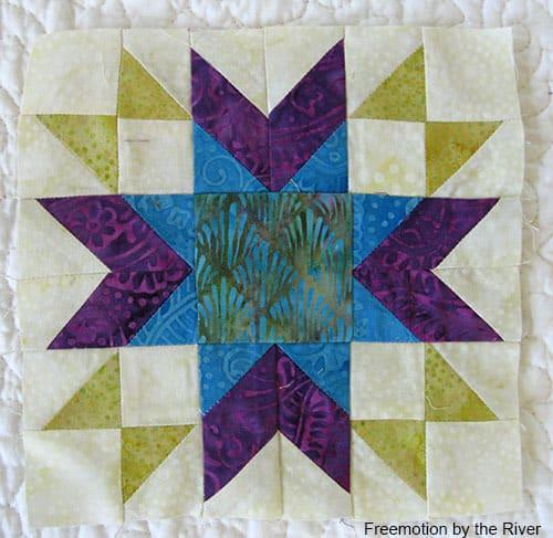 Autumn Star block made with Island Batik fabrics