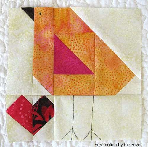 Baby Chick Block made with Island Batik fabrics