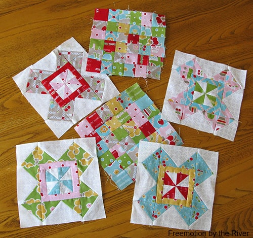 Butter Churn Blocks and Postage Stamp blocks