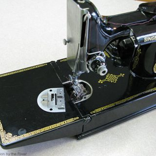 Cleaning Studio and Featherweight Singer Sewing Machine
