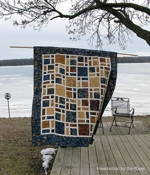 Scattered quilt by the river