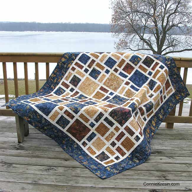 Scattered quilt on the deck