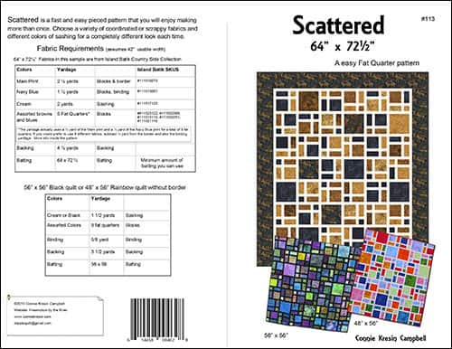 Scattered quilt pattern at Freemotion by the River