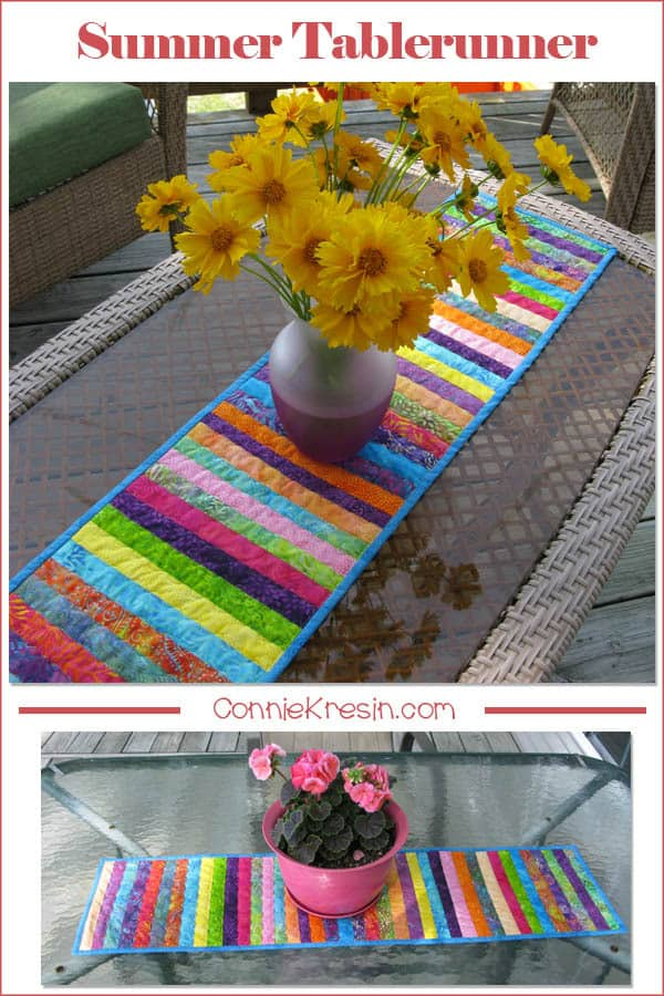 Batik String Table Runner is perfect for outside on the deck this summer