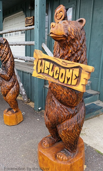 Wood carved Eagle