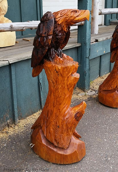 Wood carved Eagle