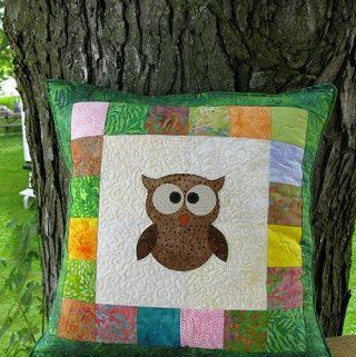 AccuQuilt Tree Owl Pillow tutorial