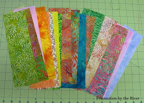 AccuQuilt Tree Owl Pillow tutorial cutting squares in batik