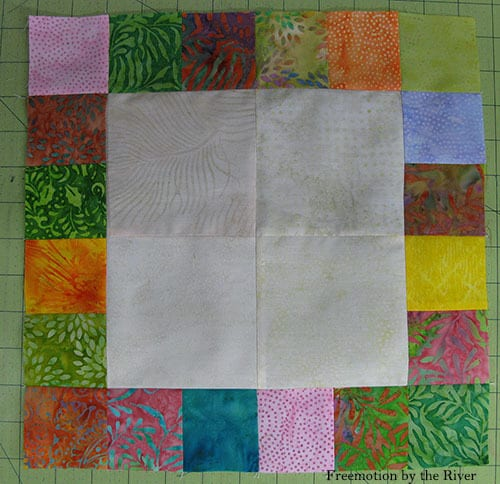 AccuQuilt Tree Owl Pillow tutorial cutting squares batiks sections pieced