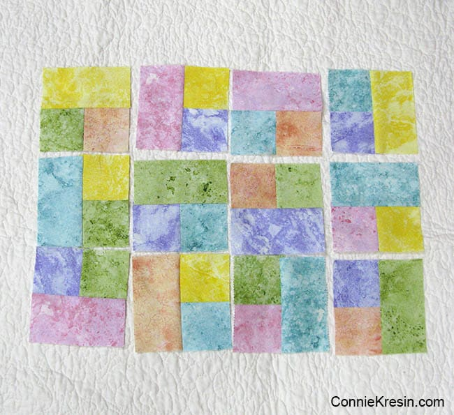 Happy placemats fast and easy tutorial laying block sections
