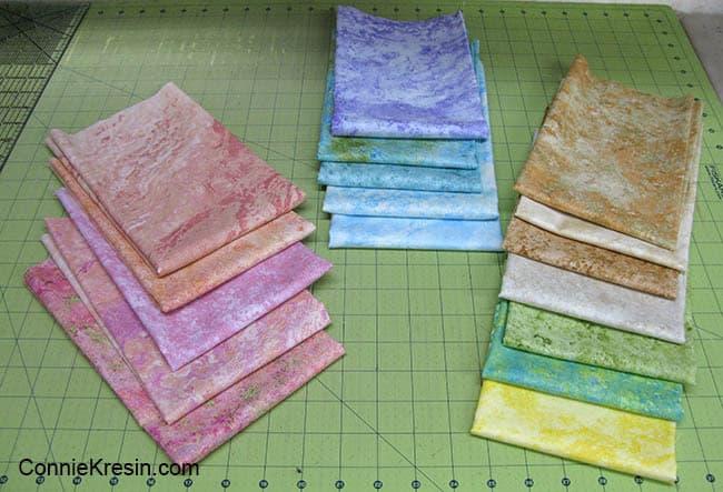 Happy Summer Placemat Tutorial fat quarters of fabrics
