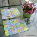 Happy placemats fast and easy tutorial sitting on glass table top