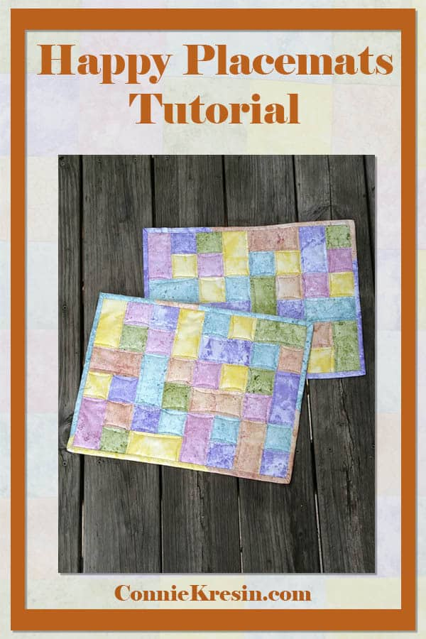 Happy placemats fast and easy tutorial
