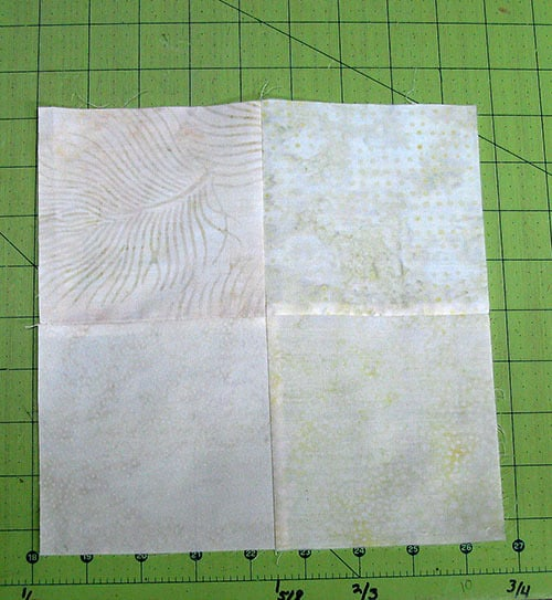 4 pieces sewn together