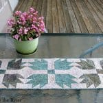 Bear Paw quilt block table runner