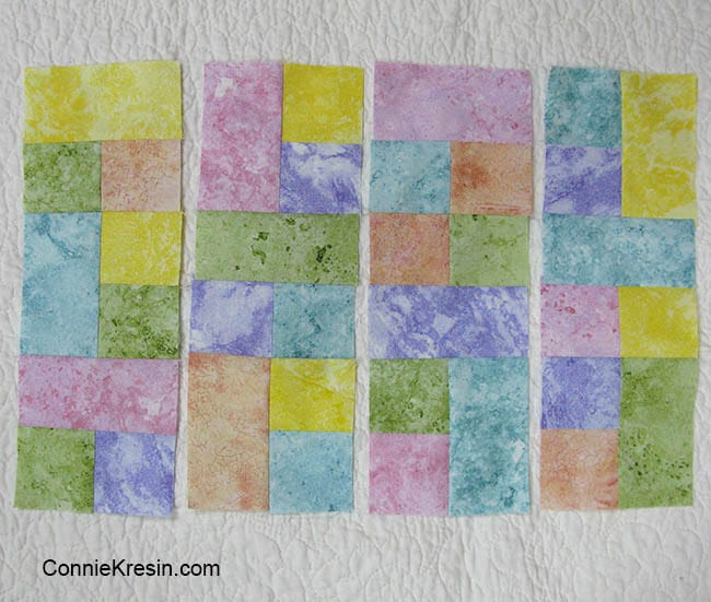 Happy placemats fast and easy tutorial laying block sections out for placemat