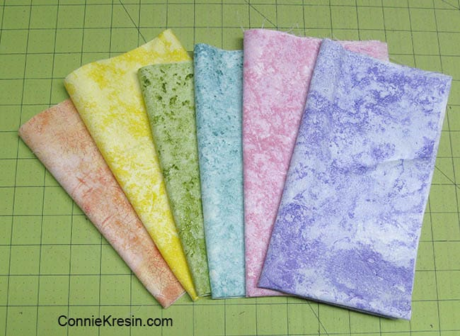 Happy Summer Placemat Tutorial six fabrics picked for placemats