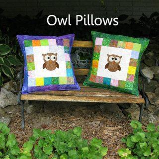 AccuQuilt GO! Owl die pillow tutorial