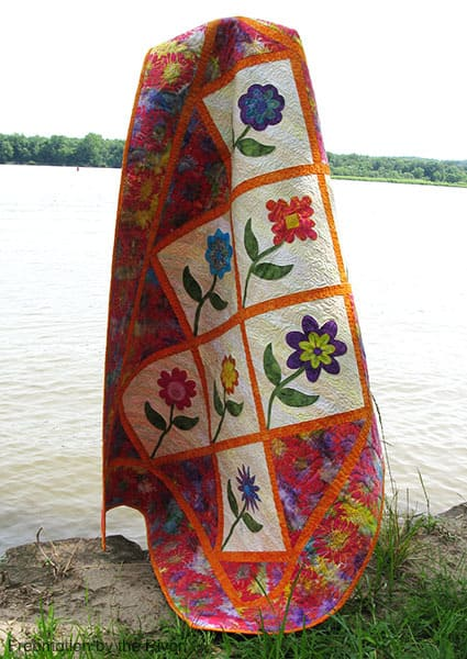 Summer Flowers quilt pattern - ConnieKresin.com