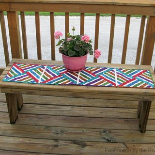 Bright Jewel Strip Pieced Table Runner Tutorial