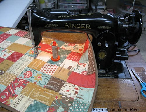 Quilted with Aurifil thread