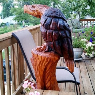American Eagle Wood Carving