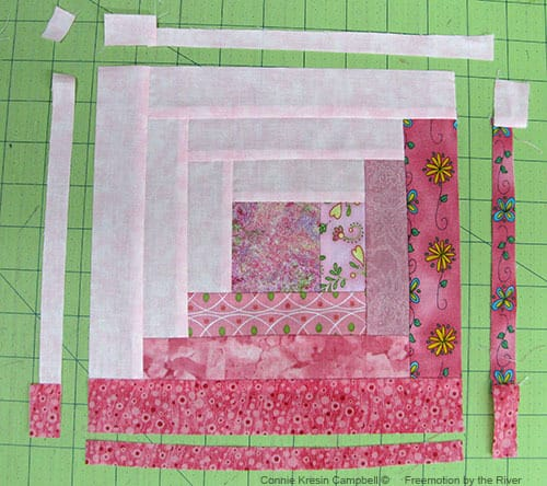 Classic & Vintage Hope Blooms Log Cabin Quilt